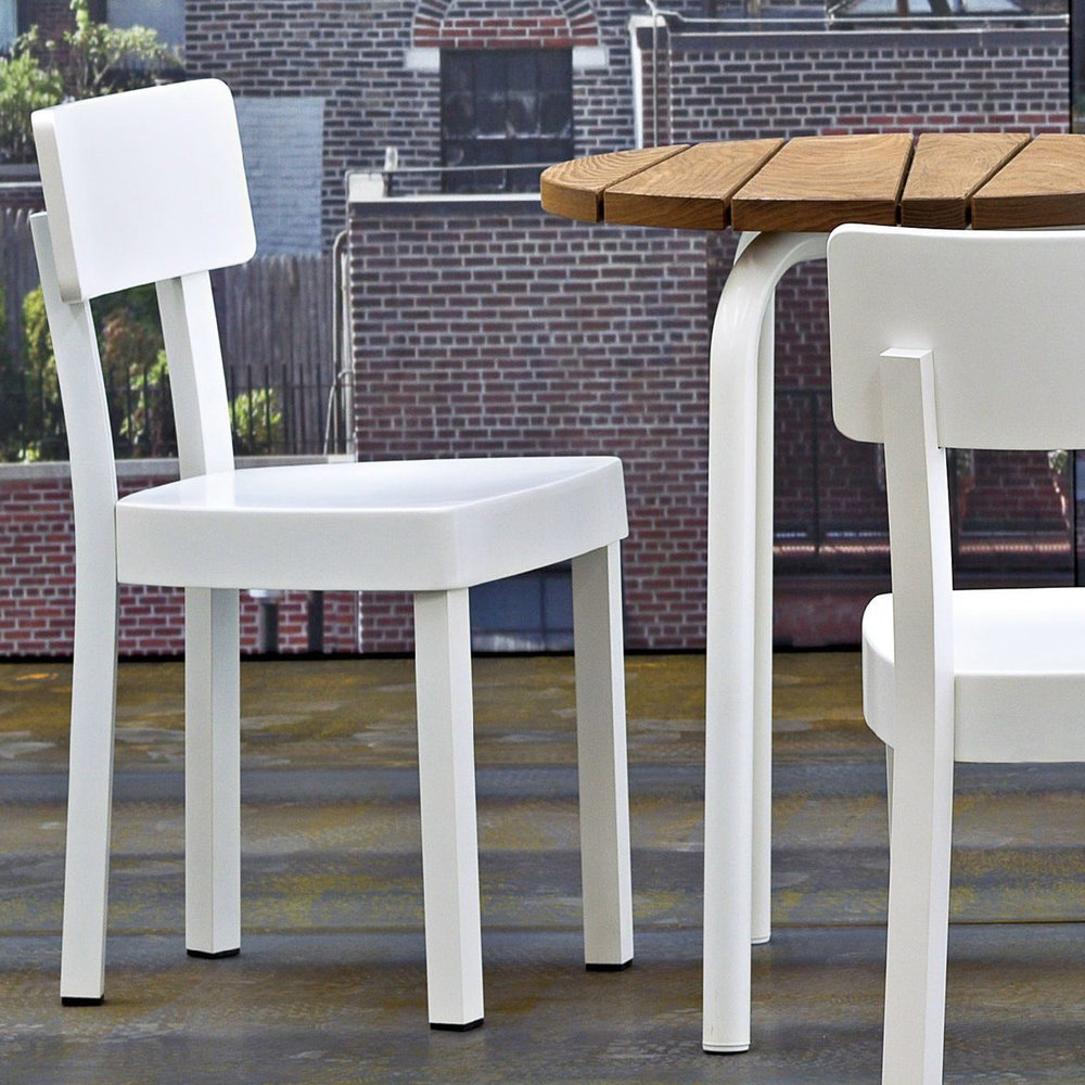 gervasoni inout 23 w - Chair in aluminium, coated for outdoors, available in white.