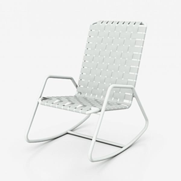 gervasoni inout 809 f - Rocking chair,aluminium tubular frame,, available in white