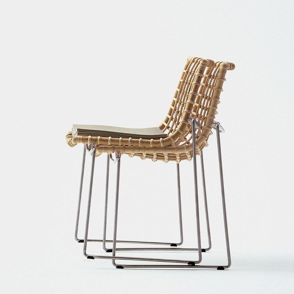 bonacina Chylium - Chylium Dining Chair: Rattan (raw)