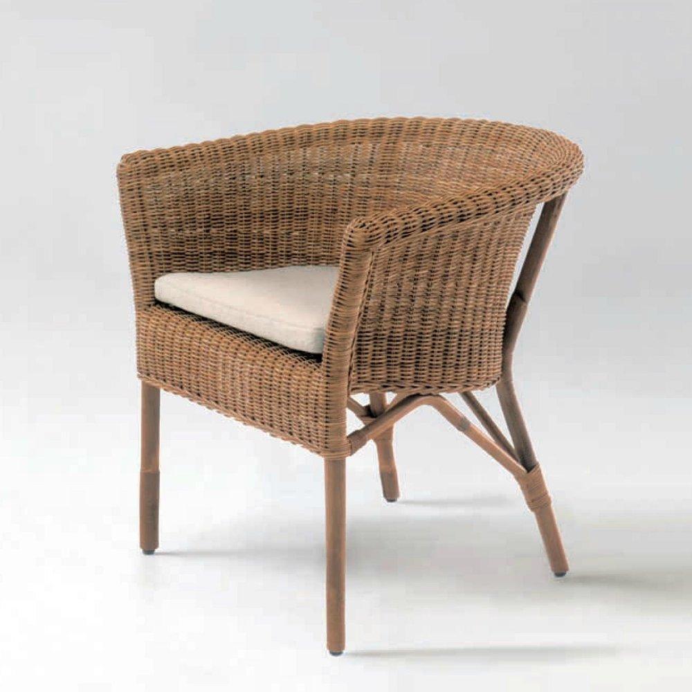 bonacina Cassis - Cassis Dining Chair: Rattan (raw)