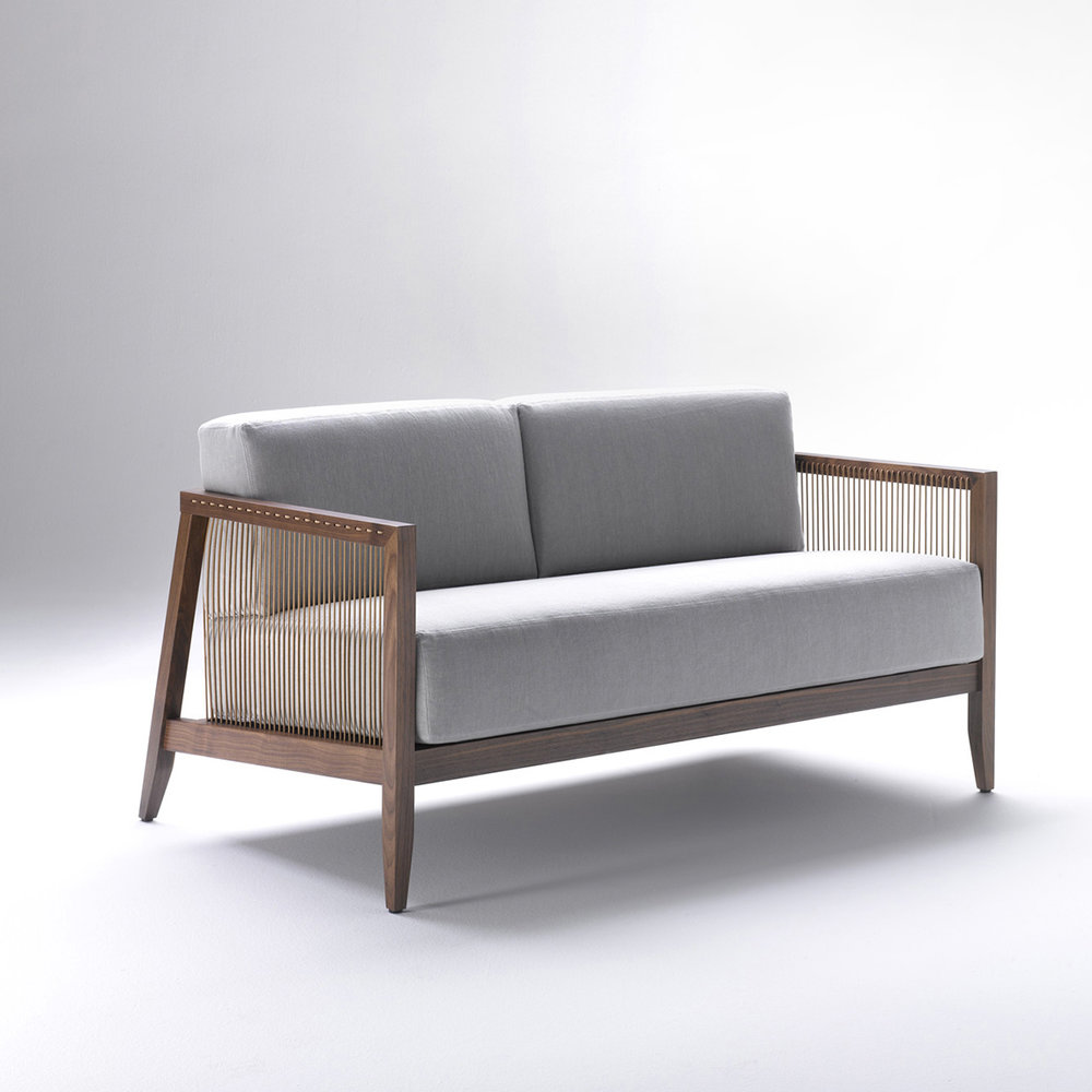bonacina1889 - Astoria 2 & 3 Seat Sofas: Walnut