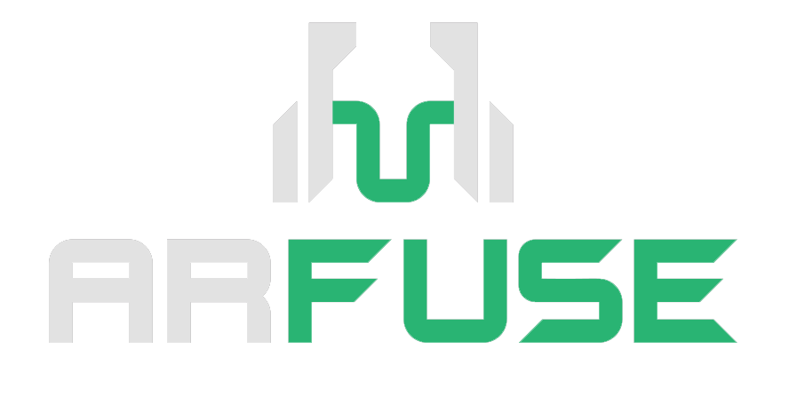 ARFuse - transparent white logo