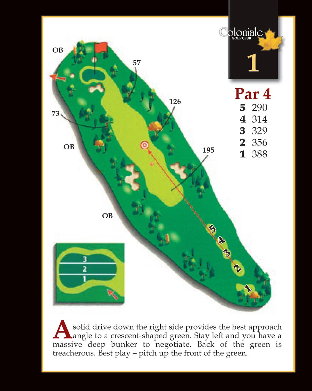 Coloniale Golf Scorecard Edmonton Beaumont - Hole 1
