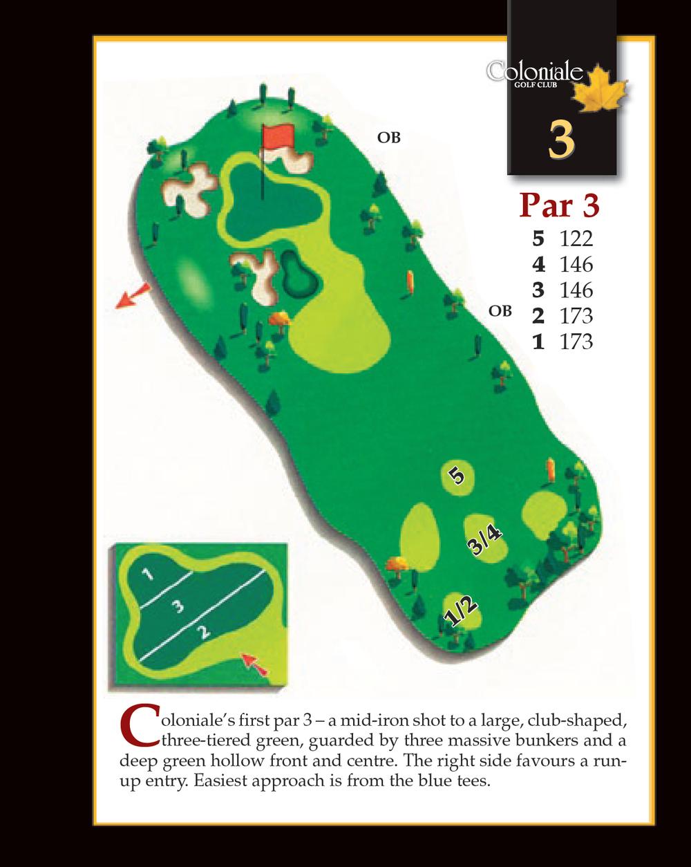 Coloniale Golf Scorecard Edmonton Beaumont - Hole 3