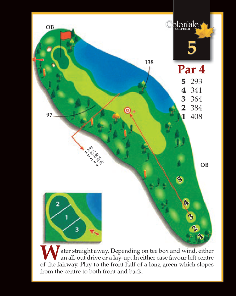 Coloniale Golf Scorecard Edmonton Beaumont - Hole 5