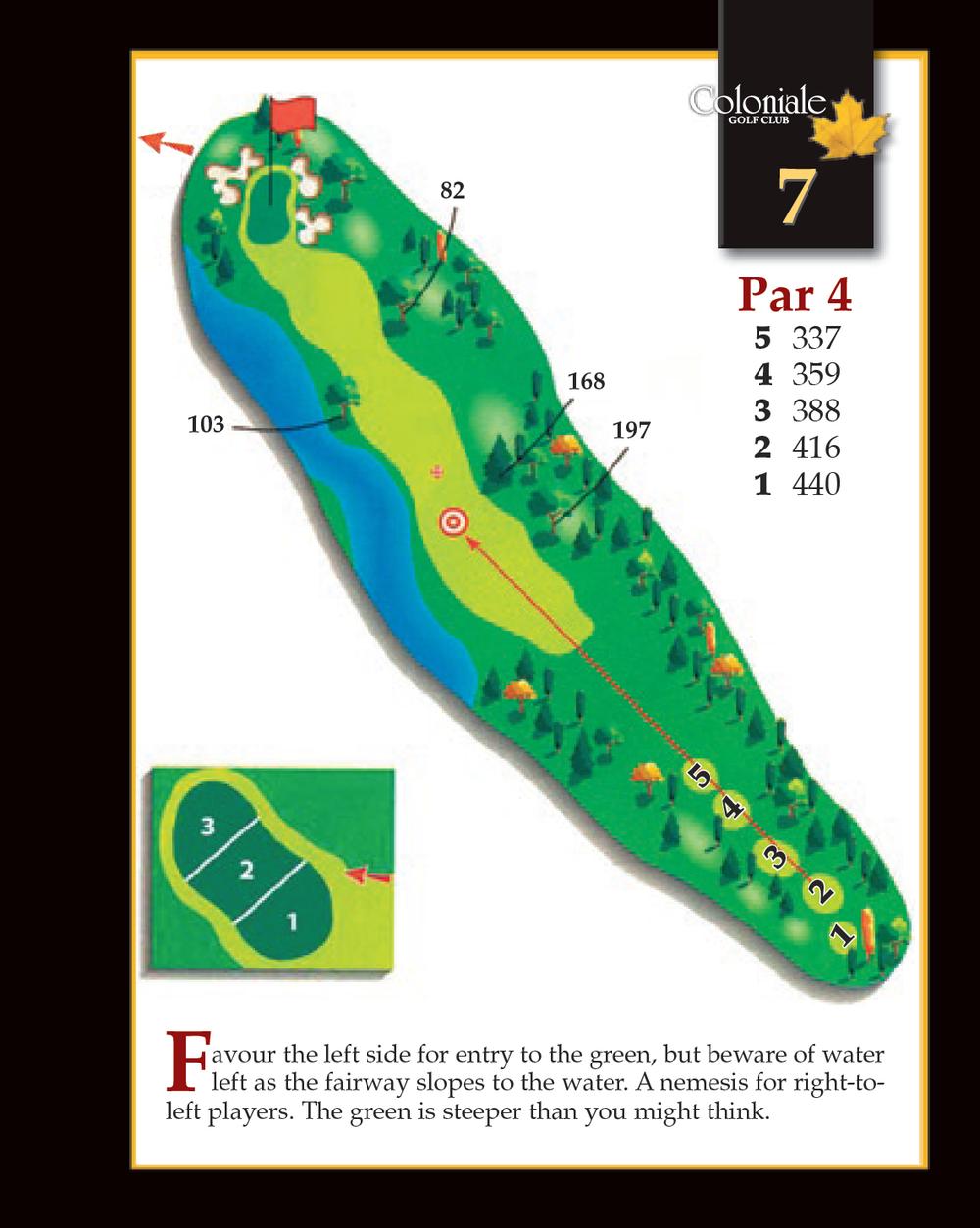 Coloniale Golf Scorecard Edmonton Beaumont - Hole 7