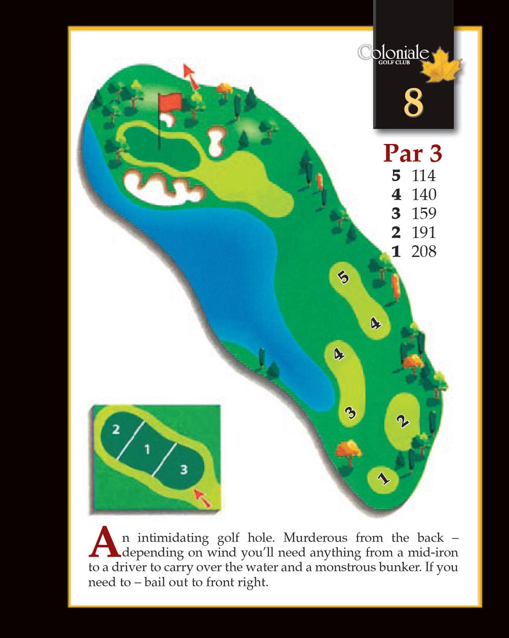 Coloniale Golf Scorecard Edmonton Beaumont - Hole 8