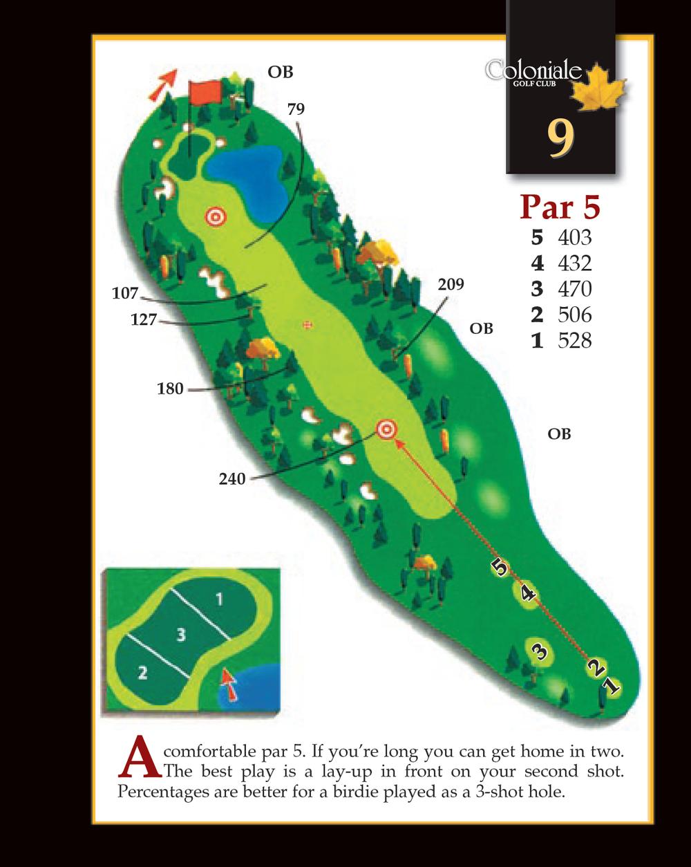 Coloniale Golf Scorecard Edmonton Beaumont - Hole 9