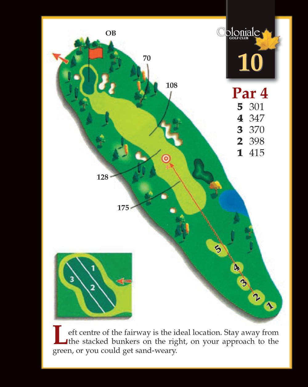 Coloniale Golf Scorecard Edmonton Beaumont - Hole 10