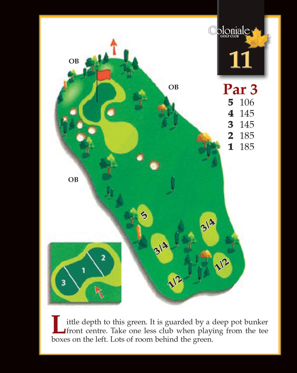Coloniale Golf Scorecard Edmonton Beaumont - Hole 11