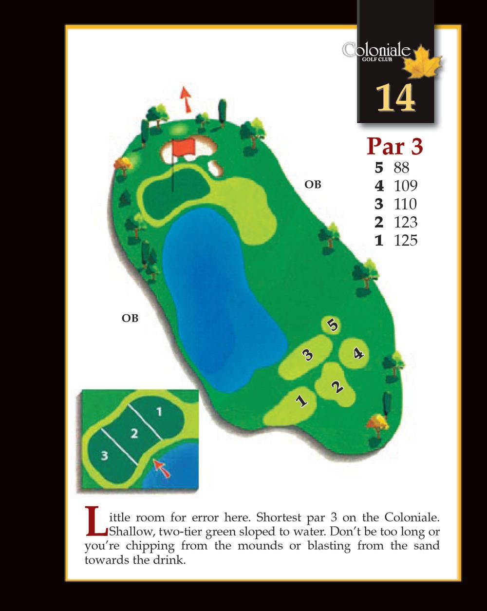 Coloniale Golf Scorecard Edmonton Beaumont - Hole 14