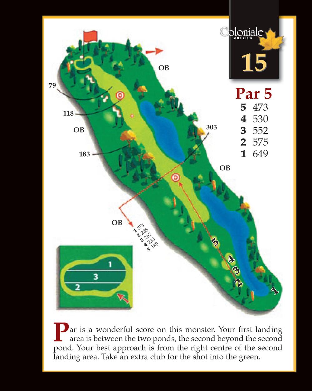 Coloniale Golf Scorecard Edmonton Beaumont - Hole 15