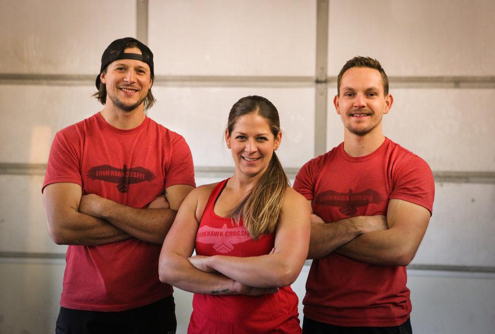 IronHawk CrossFit Family David Ambrose, Lisa Levdansky and Koltan Hansen