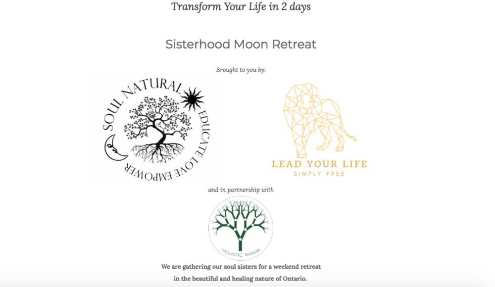 HELLO! THIS RETREAT TOOK PLACE FROM SEP 21-23, 2018    Scroll down for details on the retreat.