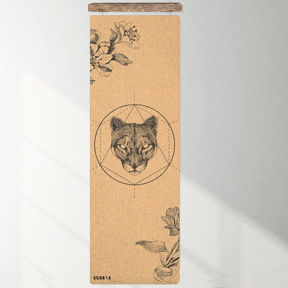 Mountain Lion Cork Mat