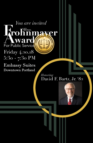 Frohnmayer Invitation Front