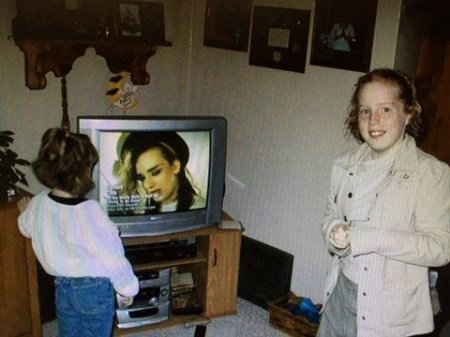 The First Time I Saw Boy George While Watching Music Videos in the Living Room with My Dad and Sister.