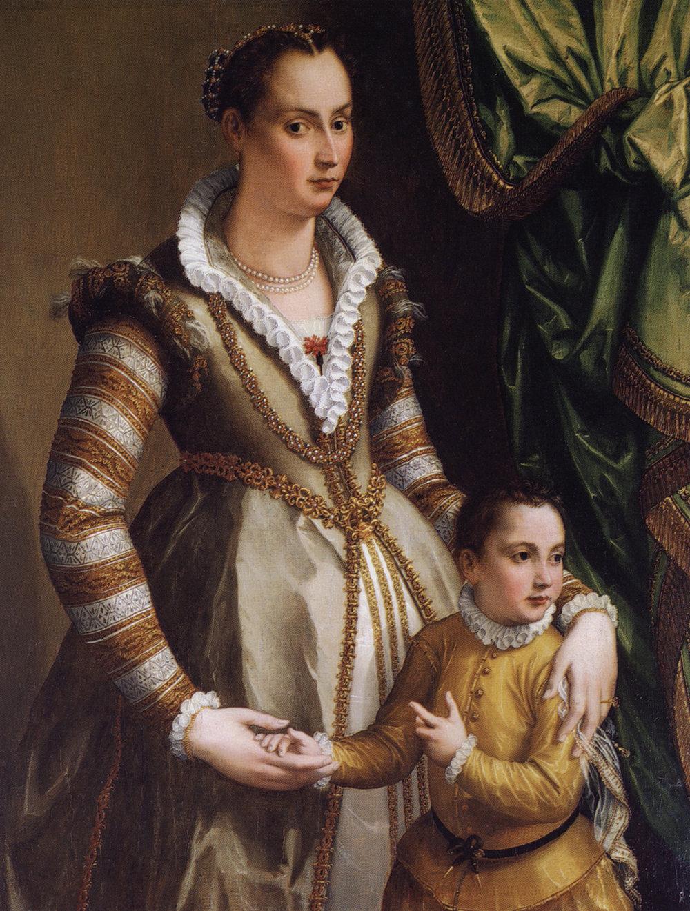 de' Medici with her son, Virginio