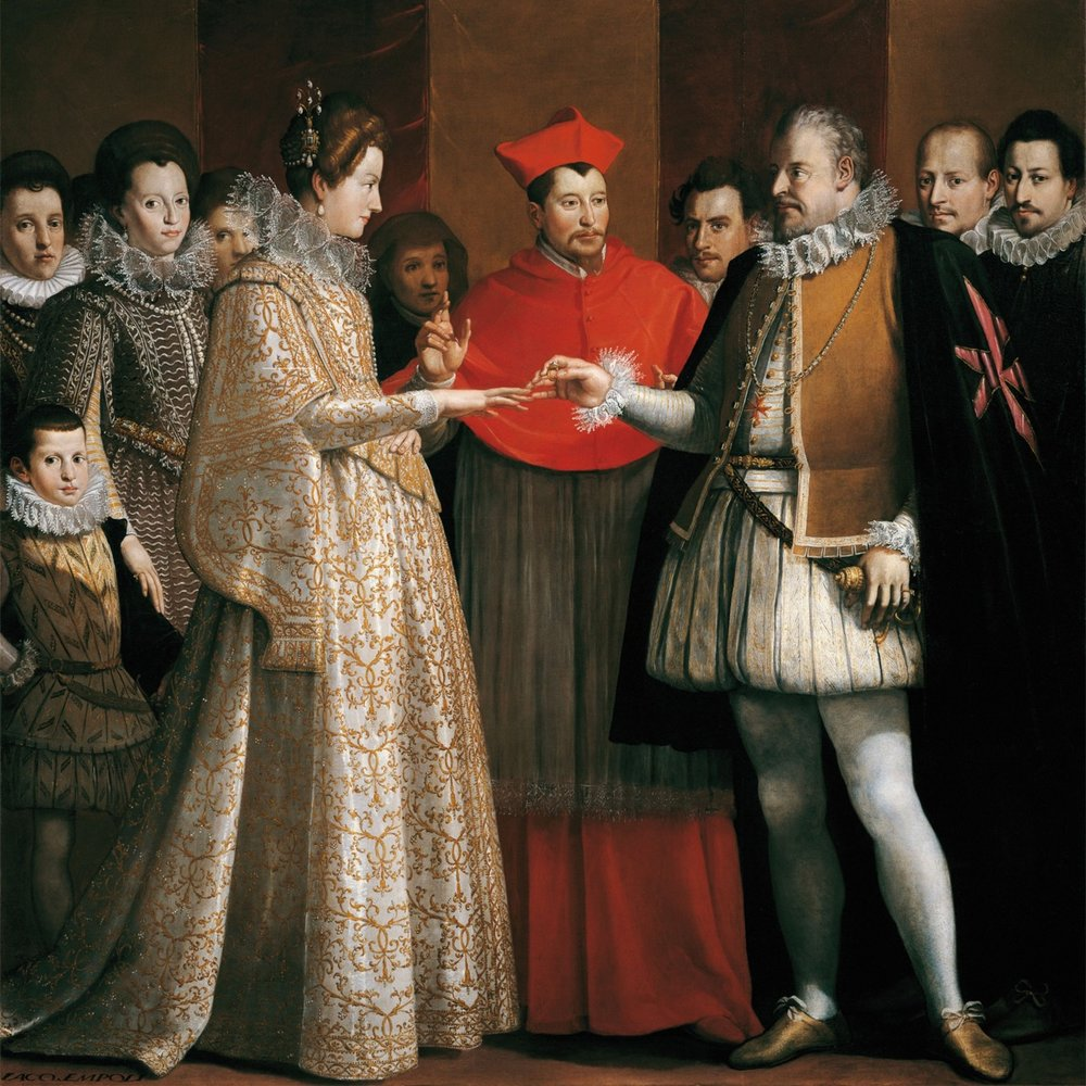 Wedding of Maria de Medici and Henry IV of France (source:  Grand Ladies )