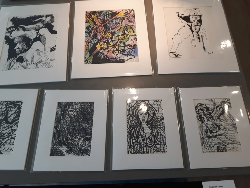 A selection of original drawings, Point West Show June 2018