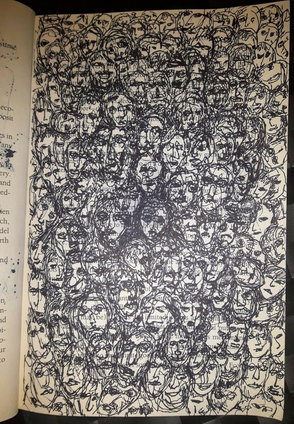 Sharpie on self help book, 6x9 in.