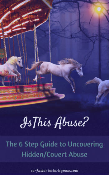 26 page guide on recognizing covert psychological emotional abuse. Includes signs, symptoms, tactics, body language, relationship dynamics and covert behaviors. This will tell you for sure if you are being covertly abused