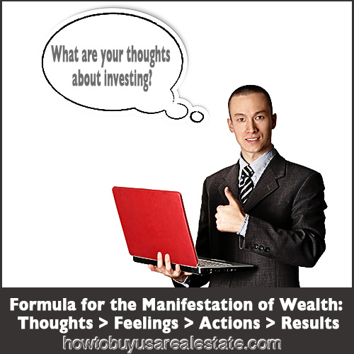 Formula for the Manifestation of Wealth: Thoughts > Feelings > Actions > Results