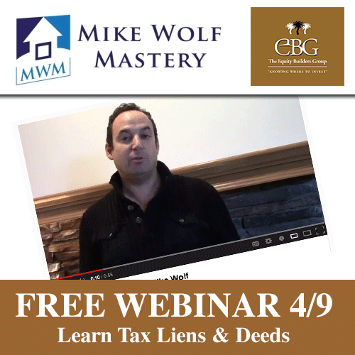 Free Webinar - Tax Deeds and Liens