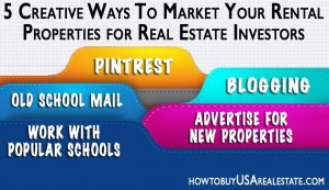5 Creative Ways To Market Your Rental Properties for Real Estate Investors