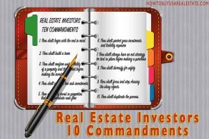 Real Estate Investors 10 Commandments