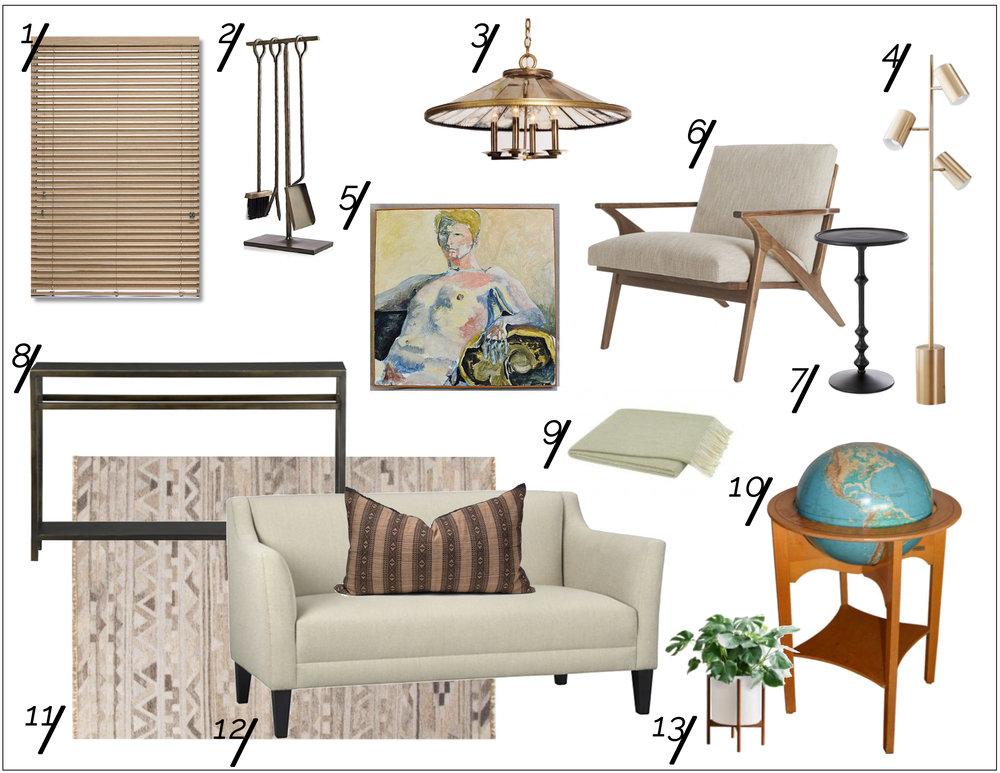 Modernized Mid-Century Living Room Shopping Guide  xo, Ebright Design