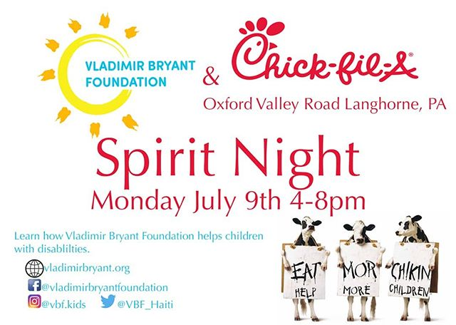 Join us for Spirit Night at Chick Fil A!