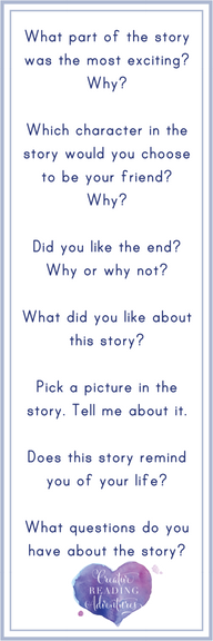 You can (and should!) start developing your child's comprehension skills from a young age. Click through to download this bookmark to help you ask questions while you read to your child.
