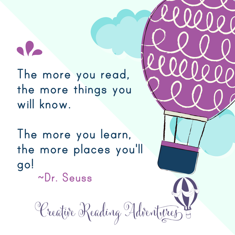 """""""The more you read, the more things you will know. The more you learn, the more places you'll go!"""" Wise words from Dr. Seuss! The more time you give your child to read, the more you are setting them up for success!"""
