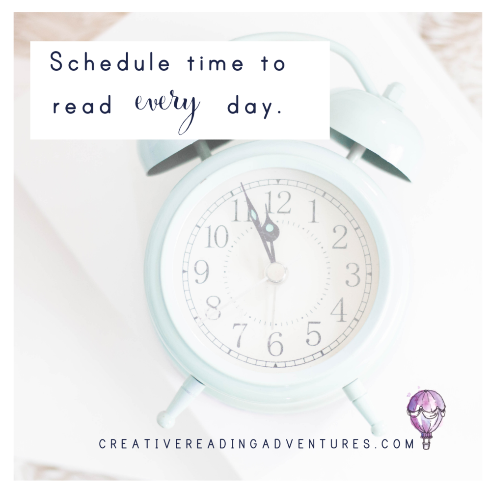 Schedule time to read every day