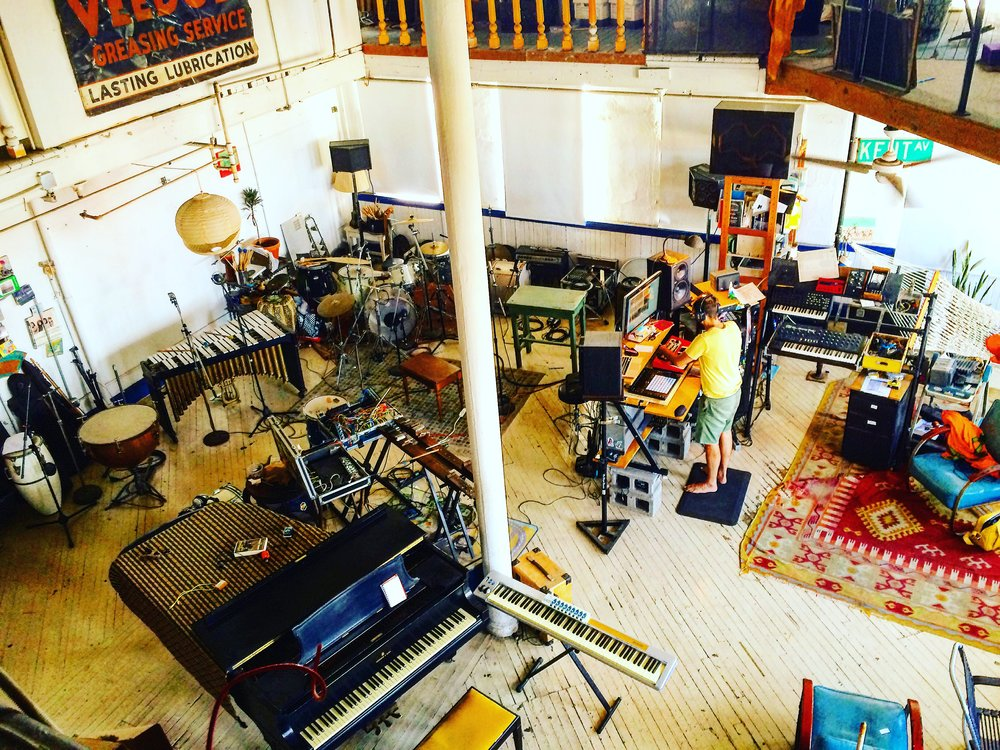 recording in Brooklyn NYC, making tracks on the second record..