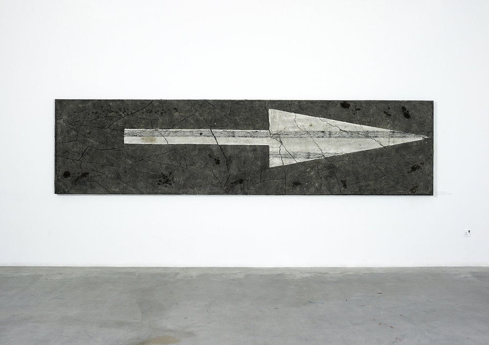 Surface No. 2 , 2012  122 cm x 488 cm x 7.5 cm
