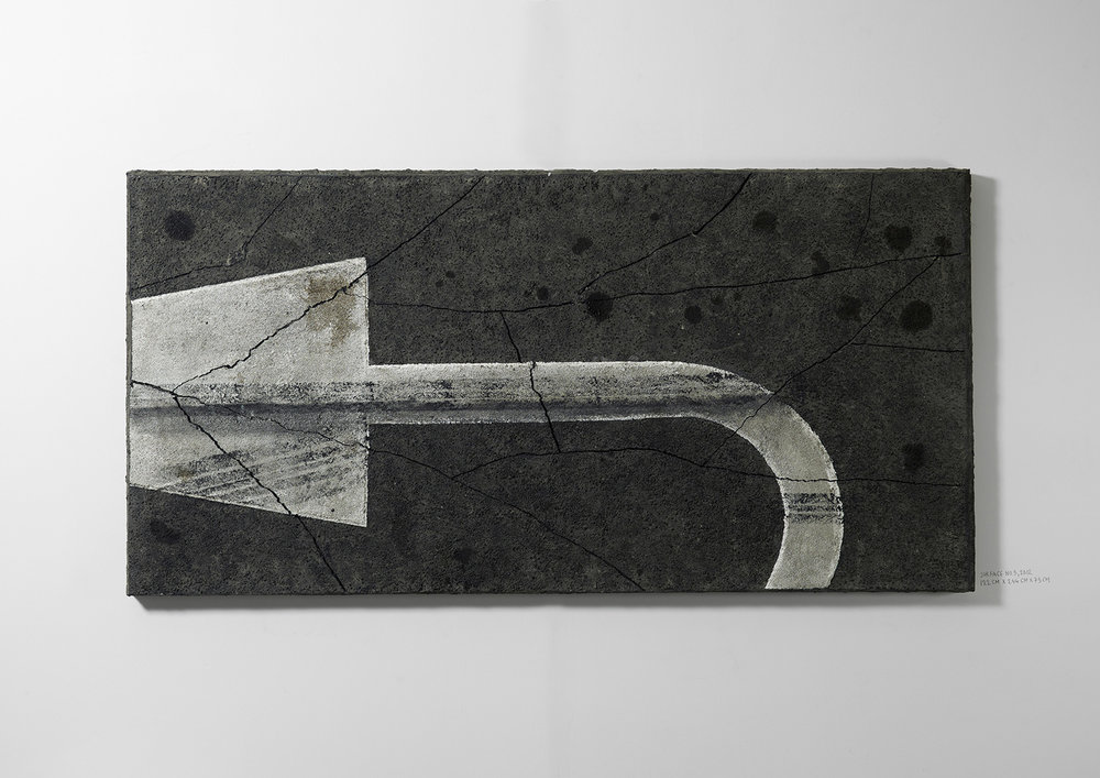 Surface No. 5 , 2012  122 cm x 244 cm x 7.5 cm