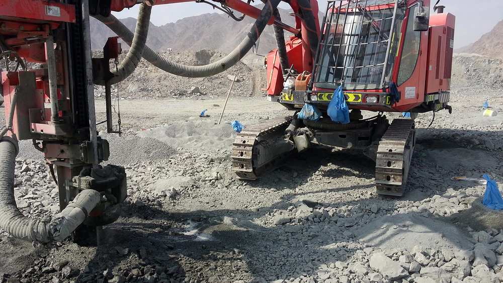 Drilling holes, Quarry, Fujairah  Research image