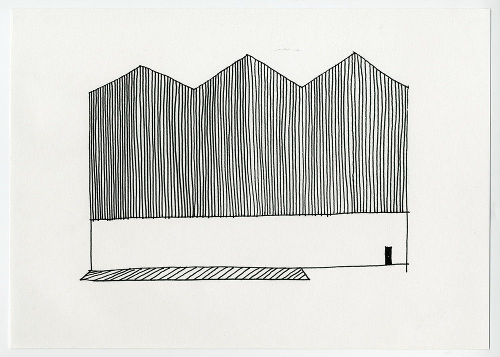 Default Residency , 2017 1 of 2 drawings (Diptych)