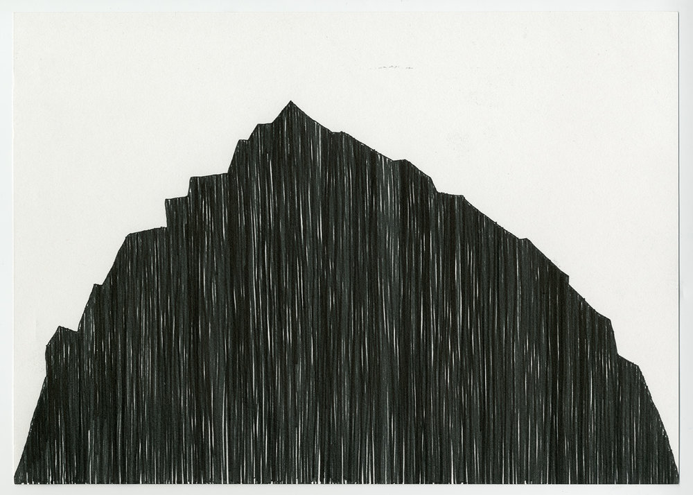 Absent Mountain , 2017  1 of 2 drawings (Diptych)