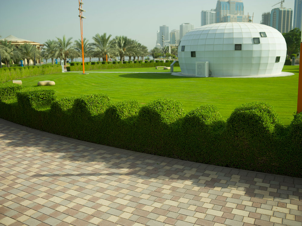 Hedge design by Shahid Ahmad Bashir Mahmood  Al Majaz Park, Sharjah