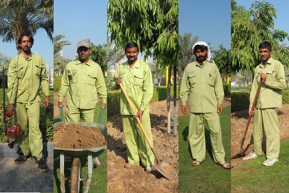 Participating gardeners (L to R): Muhammad Shabbir Ahmad Din, Mohammed Mostafa Mohammed Junu Mia, Shahid Ahmad Bashir Mahmood, Sajad Hussain Bughio, Tariq Mahmood Muhammad Riaz Ahmed