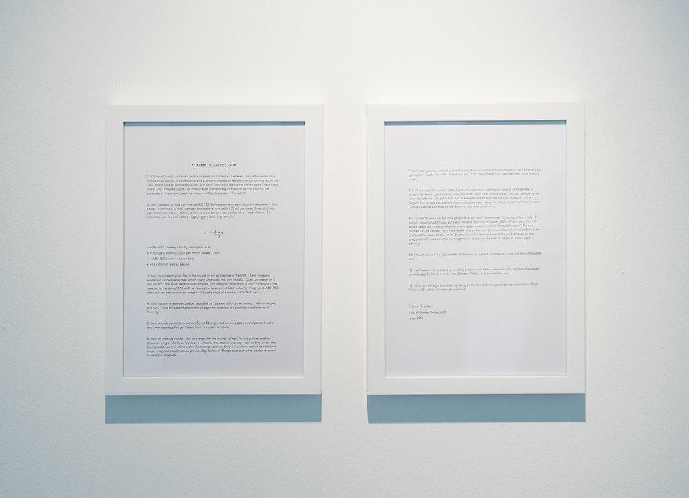 Artist Statement  Installation view