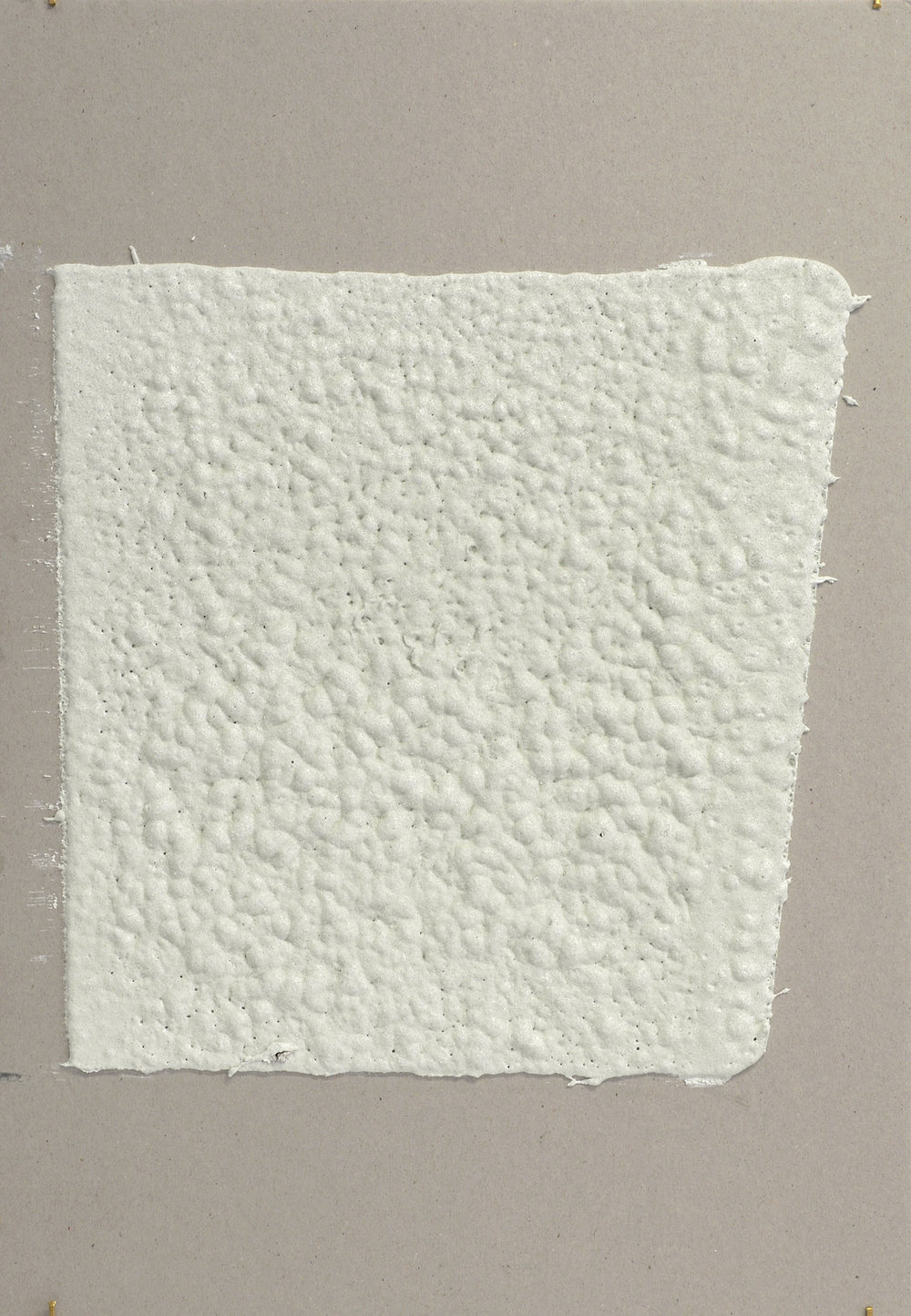 12in (W), 2.27mm (T), White, Random mark, Manual marking, Lexington Ave, E89 St int,  2018 Thermoplastic paint, reflective glass particles on grey board 35cm x 50cm