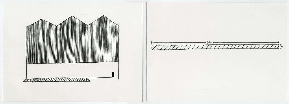Default Residency , 2017 Ink on acid free fine grain paper Diptych: 21 x 29.7 cm each