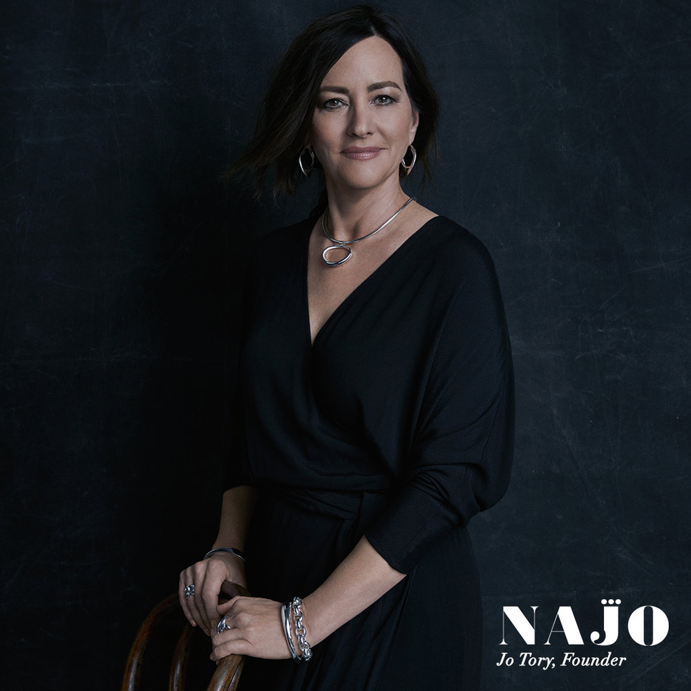 Founder and head designer of NAJO Silver Jewellery, Jo Tory.