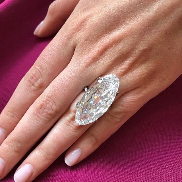 The 22.76 carat JAR diamond ring.