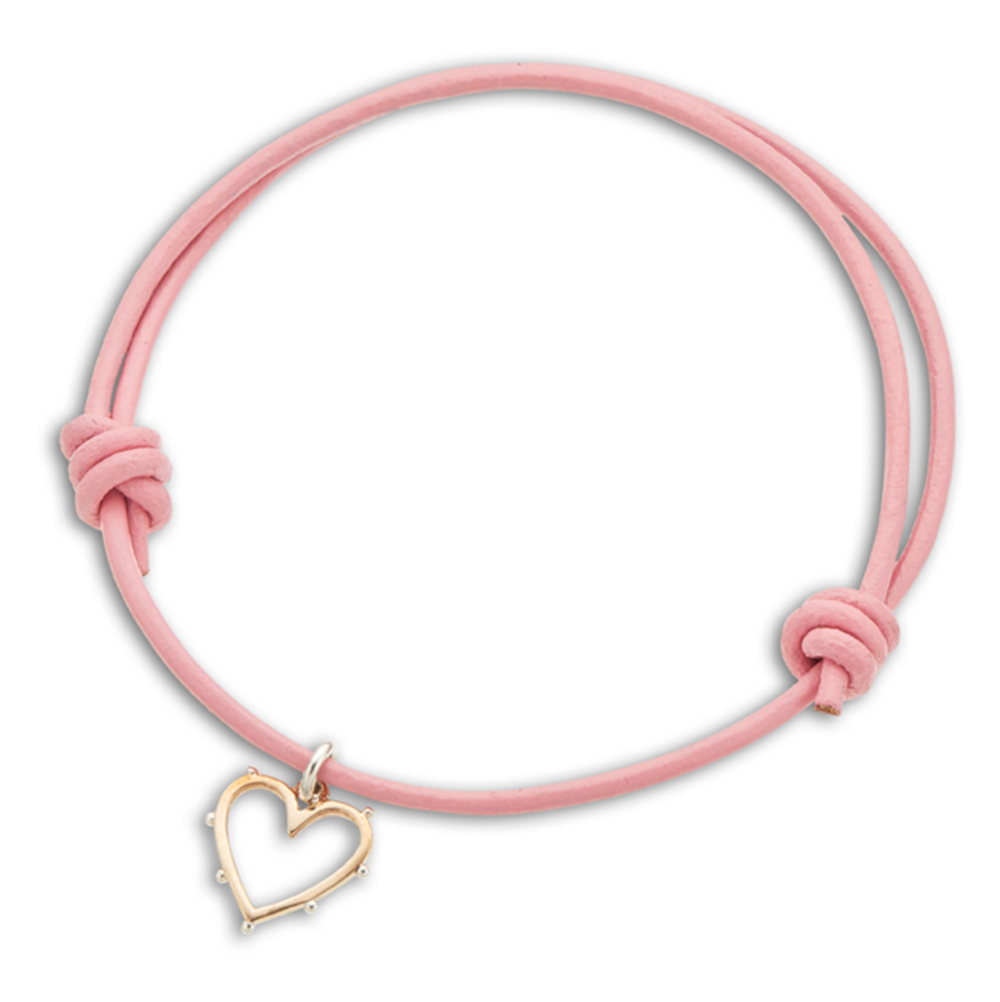 Palas Heart Leather Bracelet - $21.75