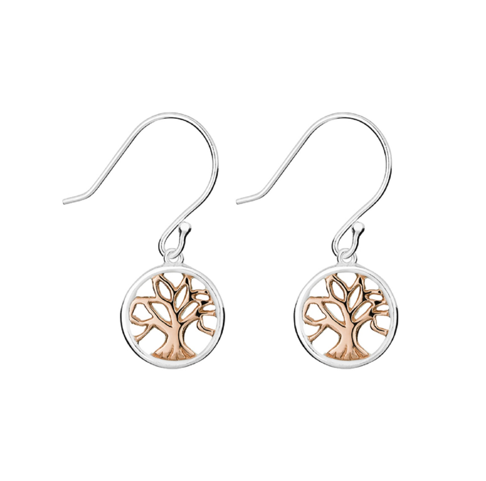 Silver & Rose Tree Earrings - $49.95